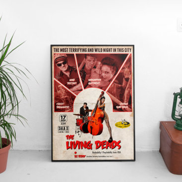 Cartel Concierto Living Deads
